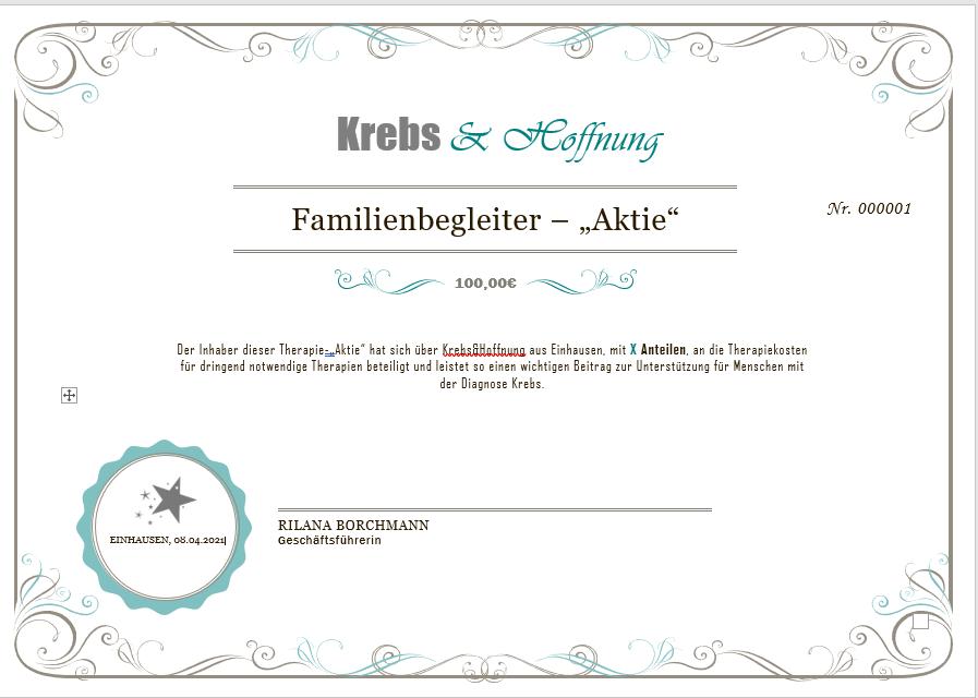 "Familienbegleiter - ""Aktie"""